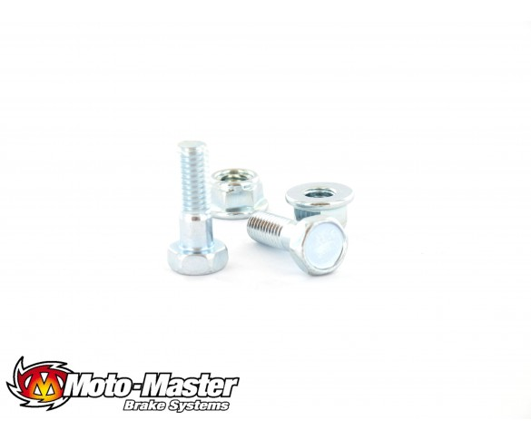 Moto-Master, Skiv Bult M6*20 Rund + Mutter 1st, BAK FRAM