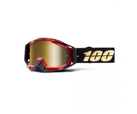 100%, RACECRAFT Goggle Hot Rod  - Mirror True Gold Lens, VUXEN