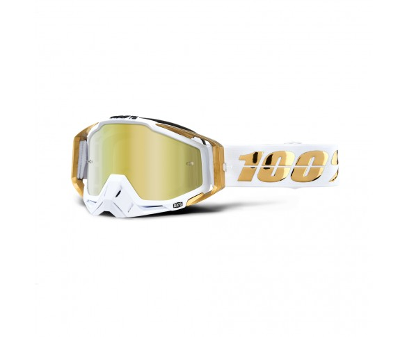 100%, RACECRAFT Goggle LTD - Mirror Gold Lens, VUXEN