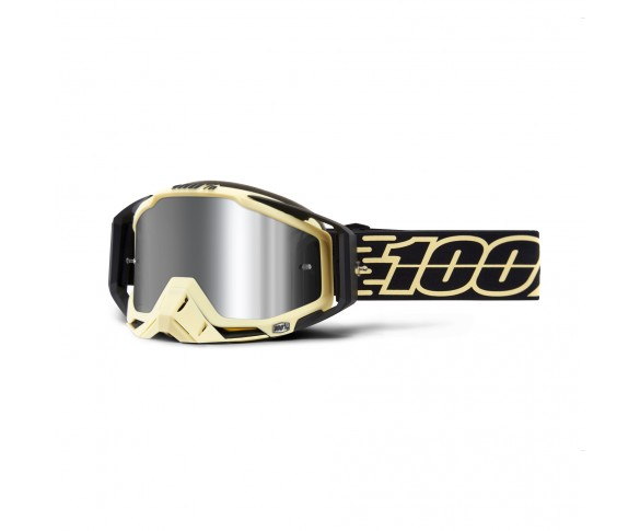100%, RACECRAFT PLUS (+) Goggle Jiva - Injected Silver Flash Mirror Lens, VUXEN