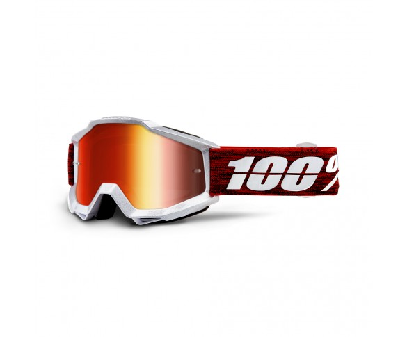 100%, ACCURI Goggle Graham  - Mirror Red Lens, VUXEN