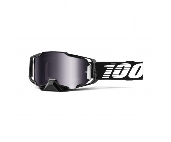 100%, ARMEGA Goggle Black - Silver Flash Mirror Lens, VUXEN