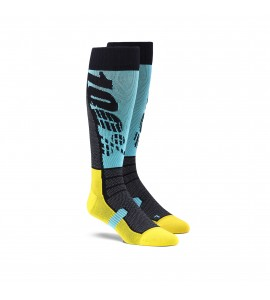 100%, HI SIDE Performance Moto Socks, VUXEN, S M, CYAN