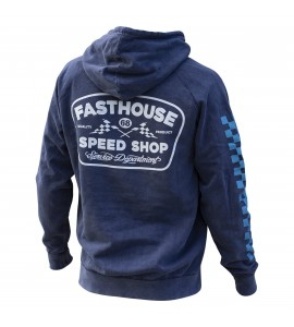 Fasthouse, Wedged pover Hoodie, VUXEN, S, BLÅ