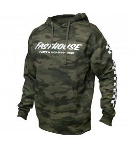 Fasthouse, Logo Hooded Pullover, VUXEN, XL, CAMO