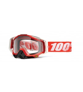 100%, RACECRAFT Fire Red - Clear Lens, VUXEN