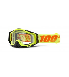 100%, RACECRAFT Attack Yellow - Clear Lens, VUXEN