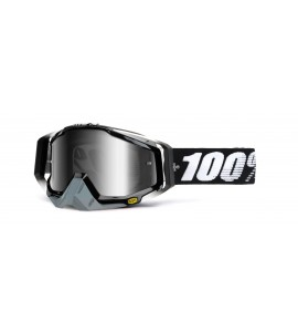 100%, RACECRAFT Abyss Black - Mirror Silver Lens, VUXEN