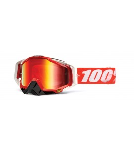 100%, RACECRAFT Fire Red - Mirror Red Lens, VUXEN