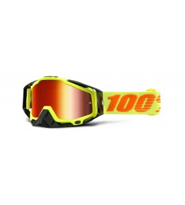 100%, RACECRAFT Attack Yellow - Mirror Red Lens, VUXEN