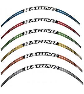 Progrip, Stripes för fälgkant, 12 stripes (3st per fälgsida), VIT