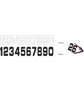 Why Stickers, Siffror Stora 10st, 20*11cm Vit 9