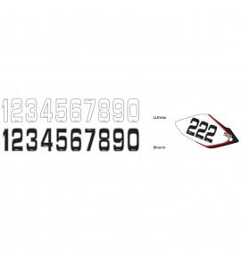 Why Stickers, Siffror Små 10st, 14,5 * 7 cm Vit 5