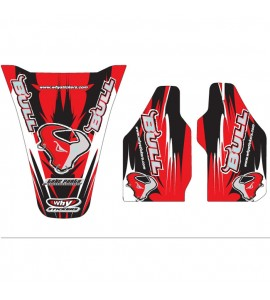 Why Stickers, Bull 06 Sponsor CR 125/250, 02-07 CRF 450 02-04, Honda 02-04 CRF450R, 02-07 CR250R, 02-07 CR125R