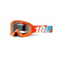 100%, STRATA YOUTH Orange - Clear Lens, BARN